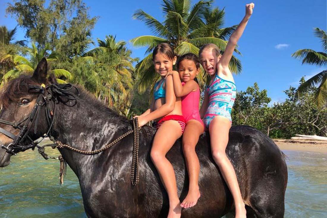 Randonnée à cheval sur la plage - Las Terrenas