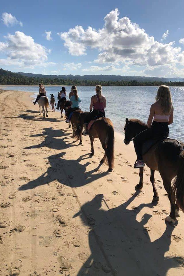 Randonée à cheval plage Las Terrenas